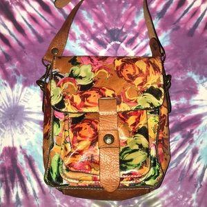 Patricia Nash Floral Leather Flap Crossbody Bag